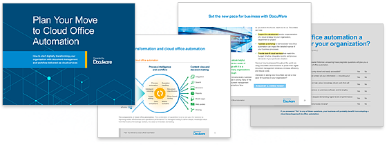 plan your move to cloud office automation ebook teaser graphic